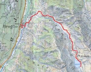 Sentiero Lago Tomeo